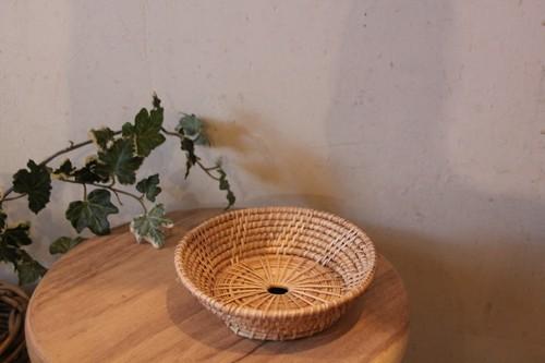 籐のラタンミニトレーバスケット