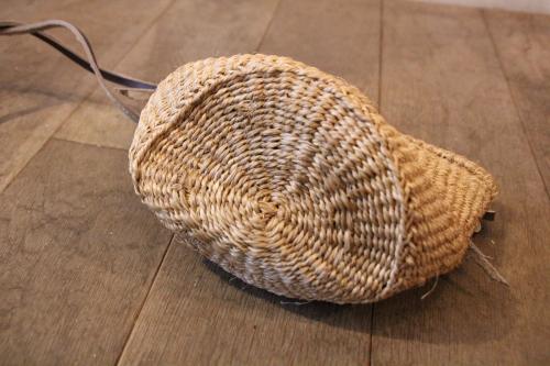 ケニアのサイザルショルダーかごバッグ