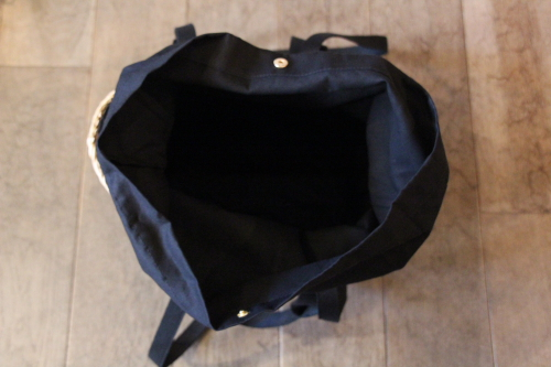 シーグラス×ブラックハンドル2WAYベルティングバッグ