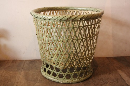 国産真竹の高台椀竹かご