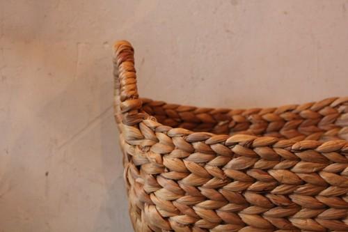 ウォーターヒヤシンスのリングハンドルバスケット