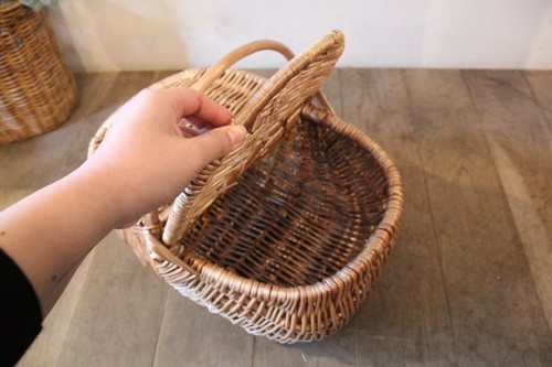 柳のワンハンドルピクニックバスケット