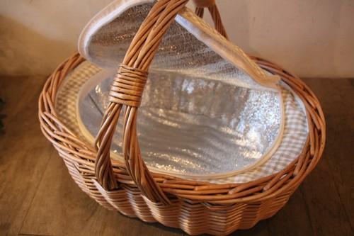 柳のオーバルピクニックバスケット