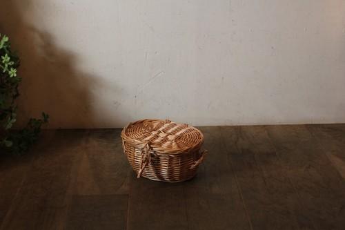 柳のフタ付きミニバスケット