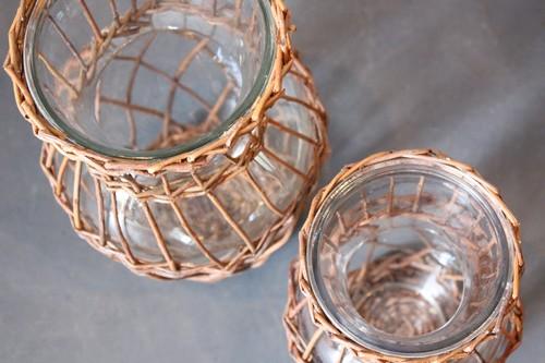 柳×ガラスのフラワーベース