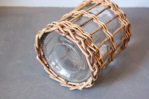 柳×ガラスのストレートフラワーベース