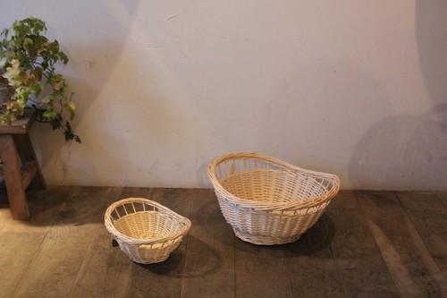 柳の透かしラインオーバルかご