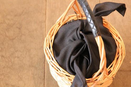 柳とレザーのワンハンドル2wayミニかごバッグ