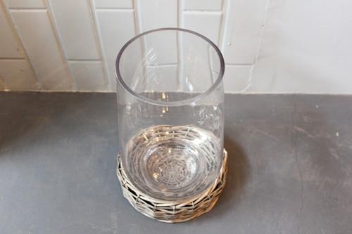 柳とガラスのテラリウムポット
