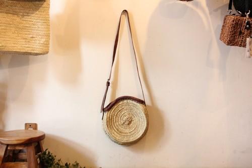椰子のマルシェサークルショルダーかごバッグ