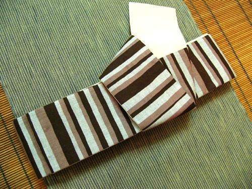木綿角帯[KAKUOBI-G-KIN373]
