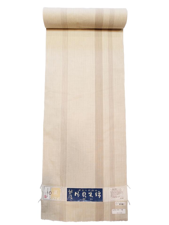 片貝木綿「縞/薄茶」