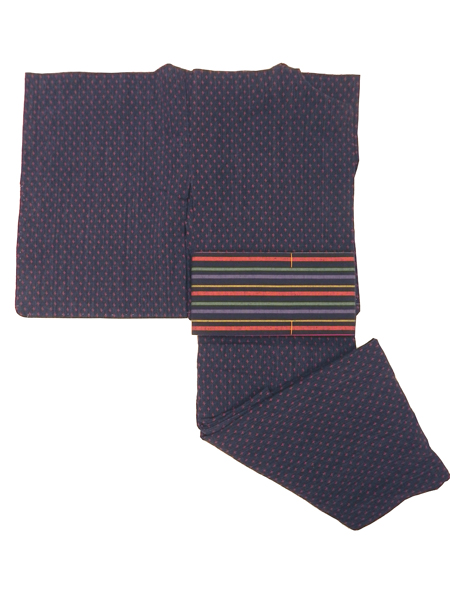 (レディースプレタ)十字絣の木綿着物「単仕立て」