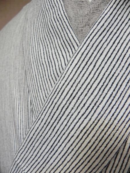 [TAKUMI]木綿着物「縞(生成)単衣仕立て」No.5n14