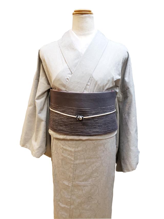 (紋織)ジャガード織木綿着物