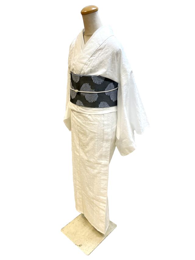 刺繍コットンキモノ「blossom」単仕立て付き(羽織仕立て対応)