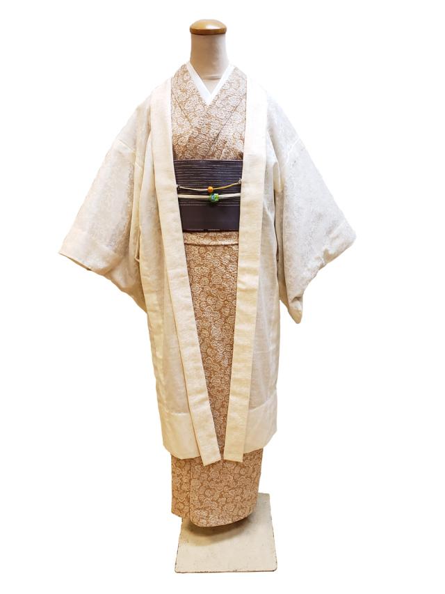 木綿薄羽織「 Florets/ジャガードからみ染」
