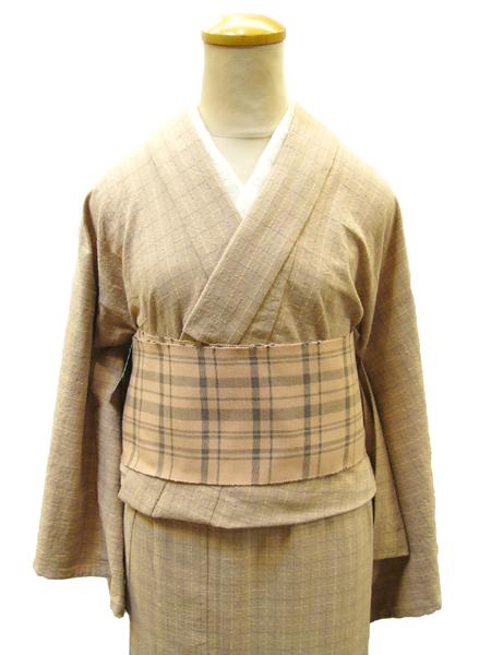 CE木綿着物(格子)No1580
