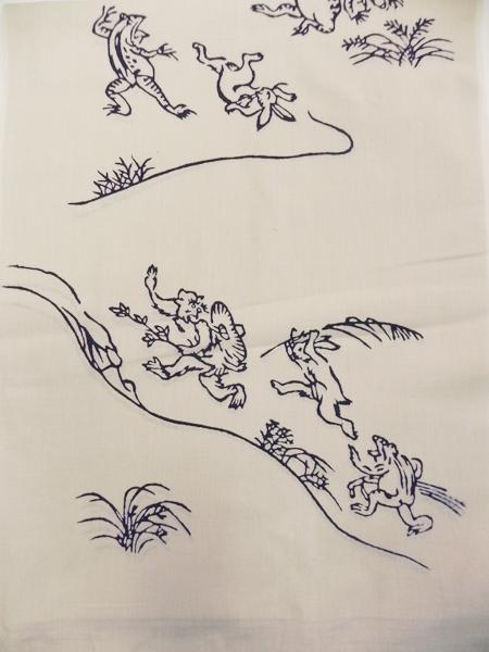 手拭い「鳥獣戯画」