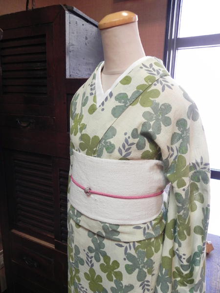 綿麻/春夏木綿「胡瓜草kyurigusa」