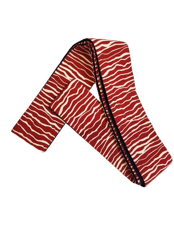 木綿角帯「ZEBRA/RED」