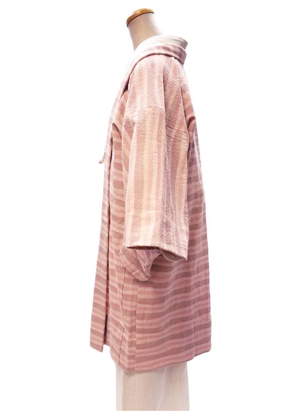 (先染)木綿羽織「横山道」