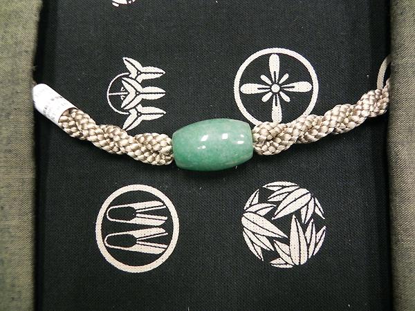 正絹羽織紐(アベンチュリン/ベージュ)