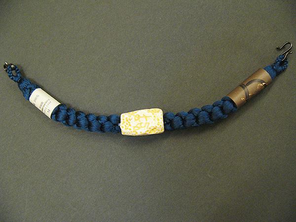 正絹 羽織紐「紺」