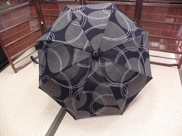 日傘「円模様/黒・グレー」晴雨兼用