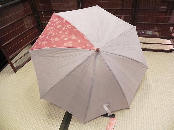 日傘「飴とこんぺいとう(生成麻/小紋柄)」