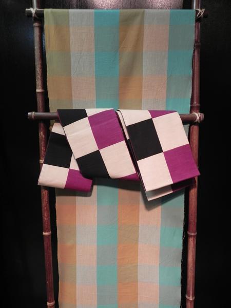 伊勢木綿「色変わり市松模様」