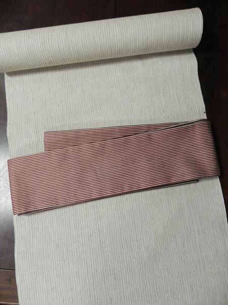 三勝染「木綿角帯/縞」両面