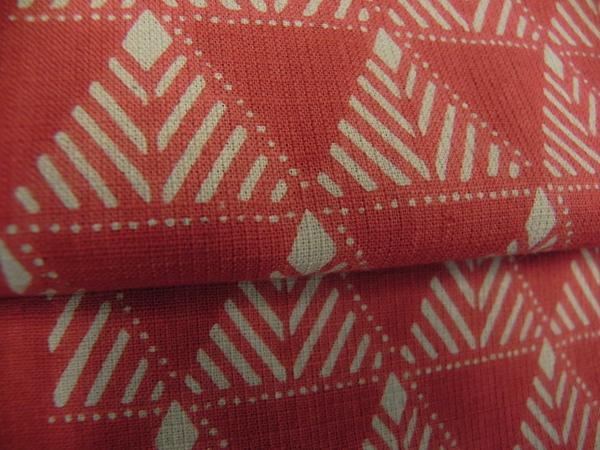 片貝木綿「型染九寸帯」