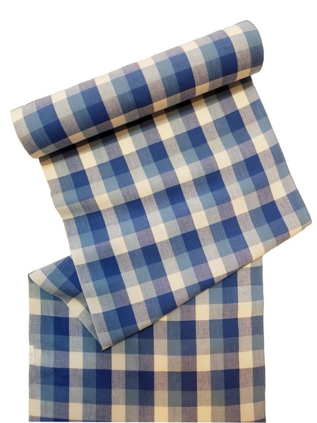 片貝木綿「格子/藍紺」