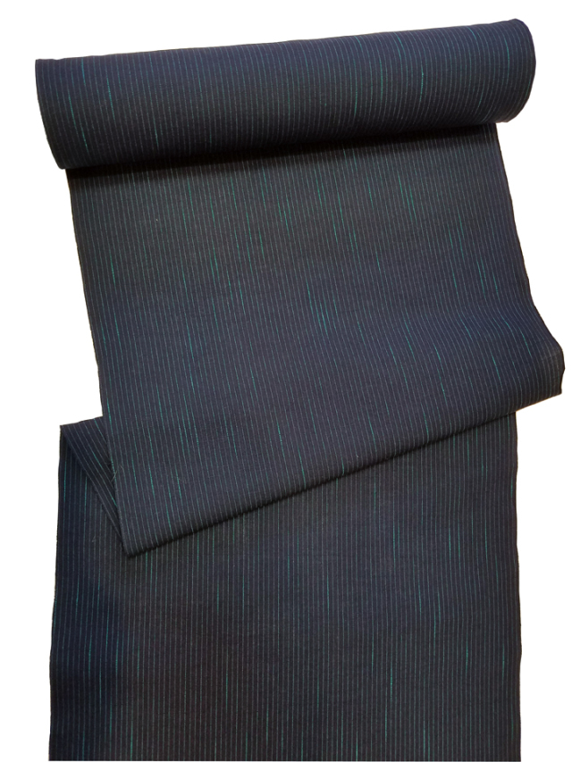 片貝木綿「縞絣/濃紺」