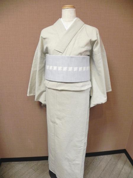 十字模様の木綿着物[cross‐stitch]