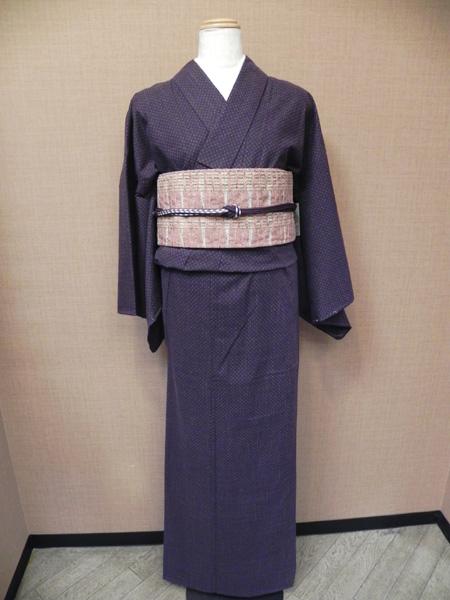オリジナル木綿着物「粒絣」No.211029