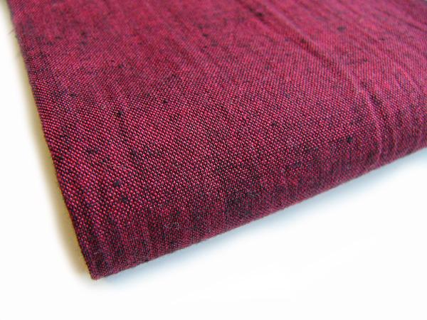 古布再現布「古布紬反物」赤紅色T2003