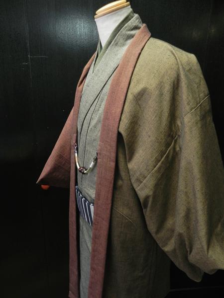 古布紬木綿2色合羽織[ensenble]