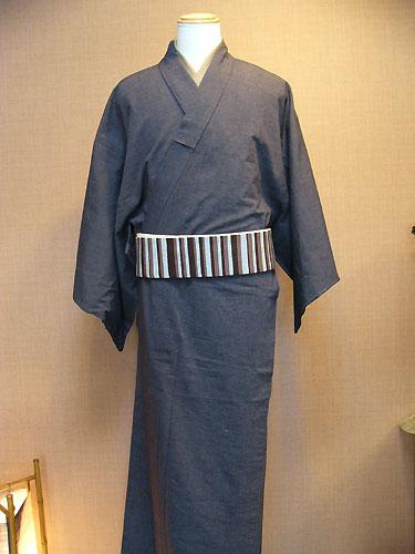 古布紬木綿メンズ着物(単)
