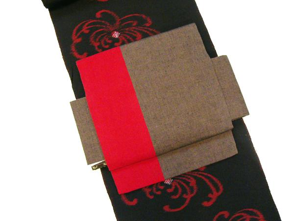 木綿付帯「古布紬/あずみ野木綿」