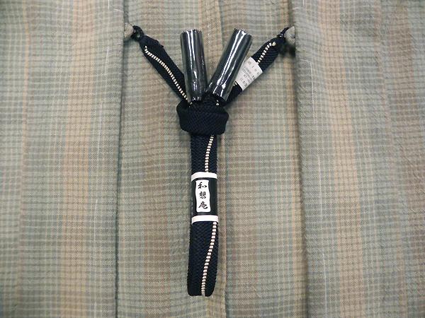 正絹羽織紐「組紐/黒」男性用