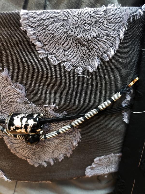 カットジャガード細帯「牡丹」