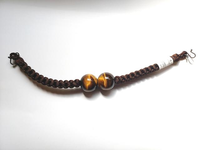メンズ正絹羽織紐(硝子/虎目)