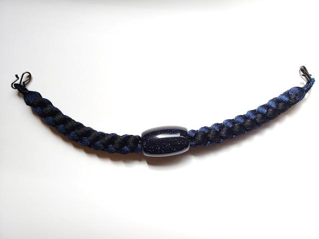 メンズ正絹羽織紐(天然石/紫金石)