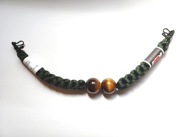 メンズ正絹羽織紐(天然石/虎目石)
