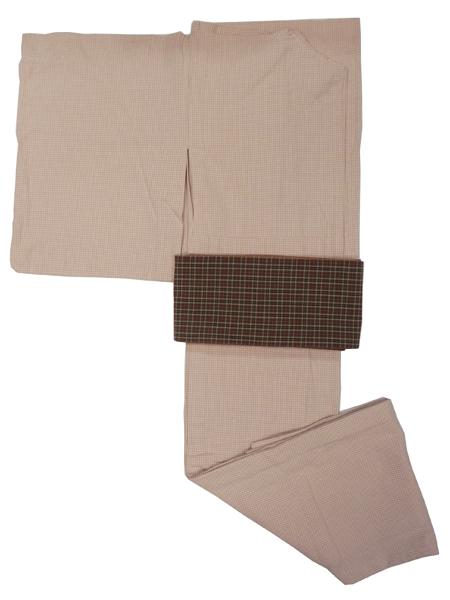 (レディースプレタ)先染織木綿着物「微塵格子/単仕立て」