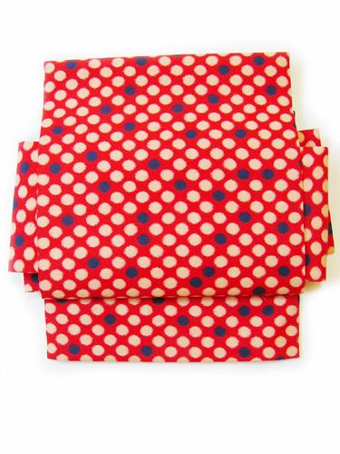 銘仙ビー玉柄の木綿付帯(MOK-BO4115)