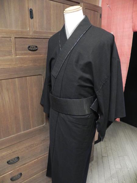 匠[TAKUMI]木綿着物「無地/黒」