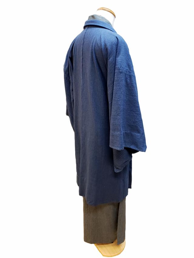 無地色紬木綿着物・羽織